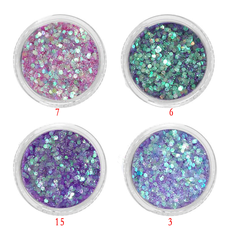 1Jar Holographic Glitter Powder 0 2 1mm Laser Nail Art Dust Pigment Sequins Nail Flakes Glitters DIY Nail Manicure UV Gel Polish in Nail Glitter from Beauty Health