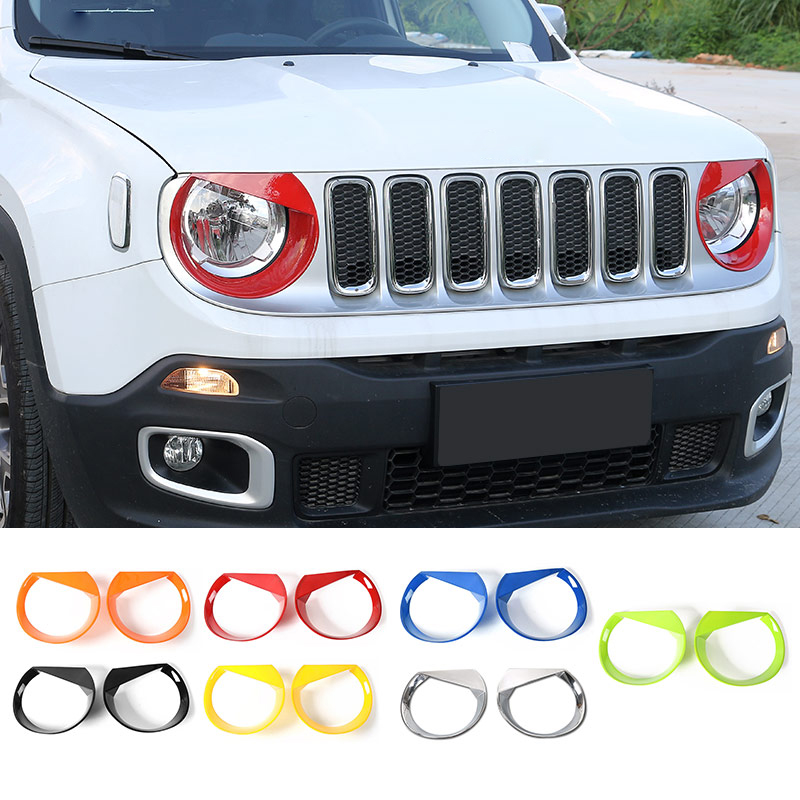 SHINEKA Trim-Sticker Cover Car-Accessories Jeep ABS for Renegade Headlight Decoration