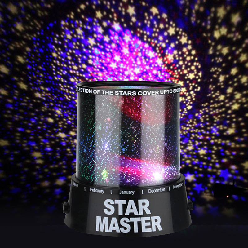 цена на LED Colorful Sky Master Lovely Starry Star Projector atmosphere Night Light Novelty Gifts High Quality baby bedside desk lamp