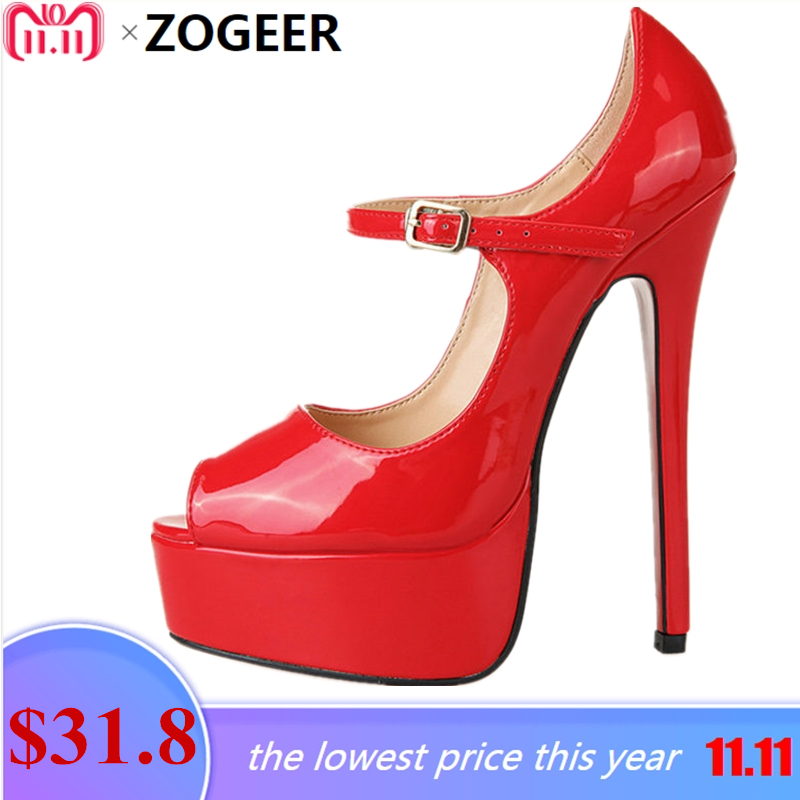 Plus Size 48 Fashion Women Pumps Peep Toe Height Platform Extreme High  Heels Shoes 16 CM 35712a79fcdb