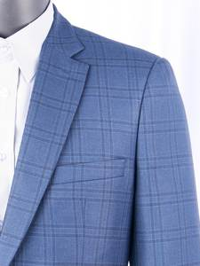 Men Suits Jacket Slim-Fit Plaid Bespoke Tailor-Made Casual Fashion Luxury Wool Silk Smart