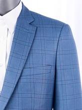 Jedwabne wełniane garnitury męskie szyte na miarę luksusowa moda Plaid Smart Casual garnitury biurowe dla mężczyzn, Bespoke Slim Fit moda marynarkę