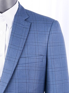 Image 1 - Silk Wool Men Suits Tailor Made Luxury Fashion Plaid Smart Casual Business Suits For Men,Bespoke Slim Fit Fashion Suit Jacket