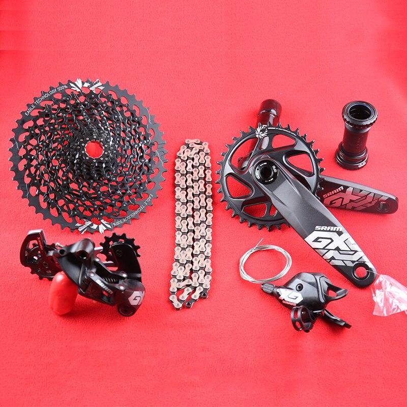 SRAM GX AIGLE 1x12 s 10-50 T Vitesse Groupset Kit DUB 32/34 T 170 /175mm Trigger manette de vitesse arrière Dérailleur Cassette Chaîne Pédalier DESC