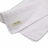 M002: classic men's 100% cotton satin banded handkerchiefs 120 piece/pack with size 17x 17