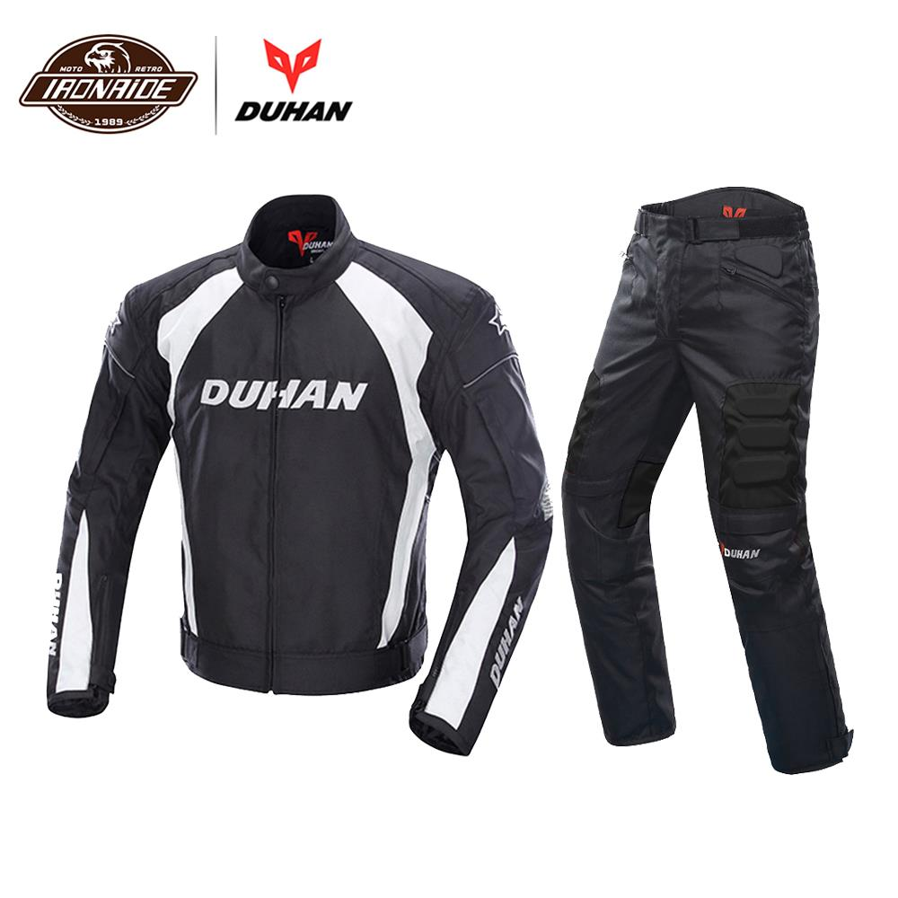 dec8b3126c4 Chaqueta de Moto DUHAN para hombre, chaqueta protectora para Moto,  pantalones de motocicleta a prueba de viento, traje de Moto de turismo a  prueba de frío ...