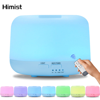 Remote Control 300ML Ultrasonic Air Aroma Humidifier with 7 Color Lights Electric Aromatherapy Essential Oil Diffuser