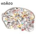 HOMOD 500 pçs/lote Projetos Mistos DIY Medalhão Flutuante Encantos para Encantos de Vidro Medalhões de Vida Presente Jewelry Making