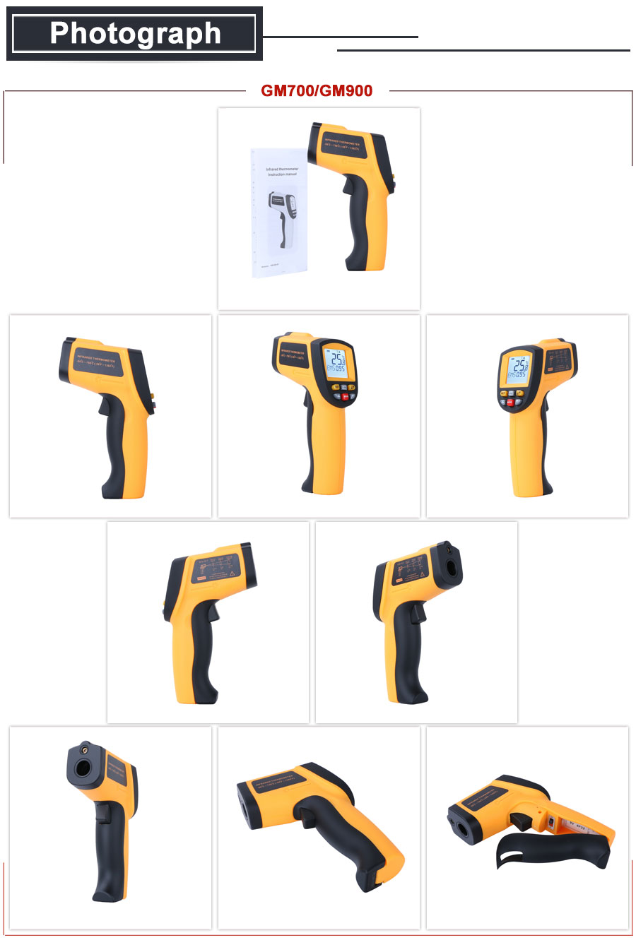 HTB1BS42XynrK1Rjy1Xcq6yeDVXa6 RZ IR Infrared Thermometer Thermal Imager Handheld Digital Electronic Outdoor Non-Contact Laser Pyrometer Point Gun Thermometer