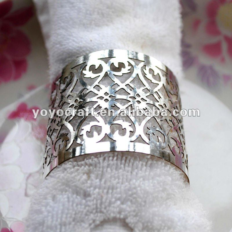 Aliexpress Buy Silver Metallic Paper Cheap Handmade Decorative Bulk Wholesale Napkin Ring For Wedding From Reliable Rings Suppliers On
