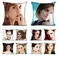 Benutzerdefinierte Emma Watson seide kissenbezug doppelseitiges drucken home wohnzimmer geschenk gewohnheit ihre bild mehr größe 40X40 45X45 60X60-in Kissenbezug aus Heim und Garten bei