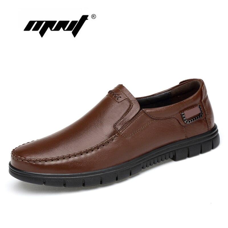 Plus Size Genuína sapatos de Couro Homens Sapatos Casuais Deslizar Sobre Apartamentos Sapatos Mocassins Mocassins Confortáveis Sapatos Masculinos Zapatos Hombre