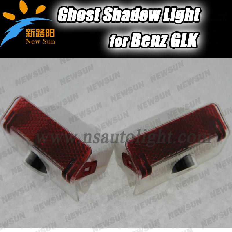 Car Door logo Projector Llight Ghost Shadow Light Lamp LED Door Welcome Light laser for Benz GLK GLK260 GLK300 GLK350 car door welcome laser projector logo door ghost shadow led light for vw volkswagen tiguan golf 5 6 7 passat b7 eos etc