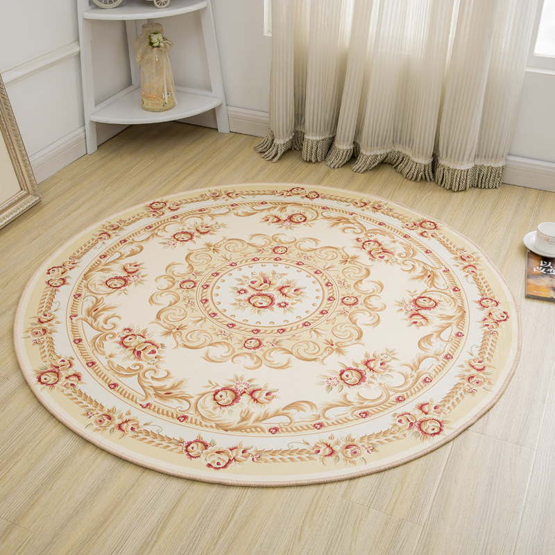 byetee Round Carpet Soft Carpets Anti-slip Rugs 60/80/100/120cm Computer Chair Mat Floor Yoga Rugs Mat for Kids Room Home