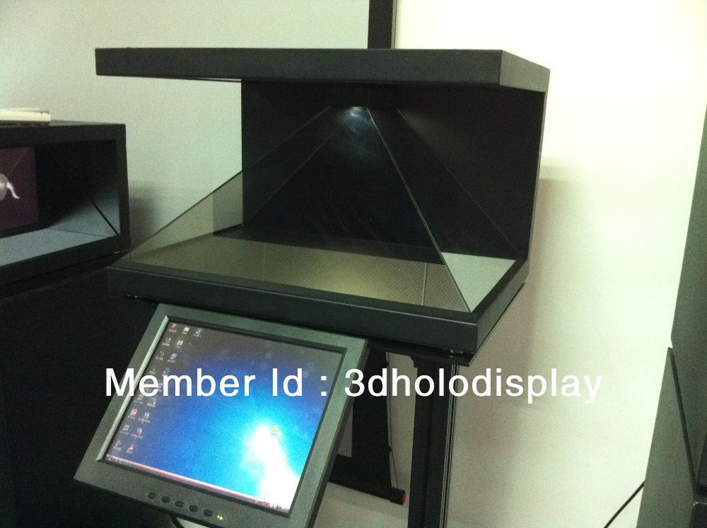 "270 degree 3D Holographic Display Showcase,22"" Advertising Showcase,Pyramid Hologram Display,Holographic Advertising Showcase"