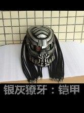 Quality Helmet MASEI Grey  Predators mask fiberglass neca motorcycle helmet Full face iron man moto DOT M L XL