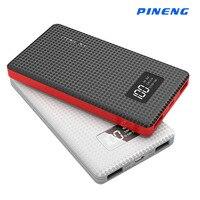 External Battery 6000mAh Original Pineng Power BankLi Polymer Battery LED Indicator Portable Charger Power Bank For