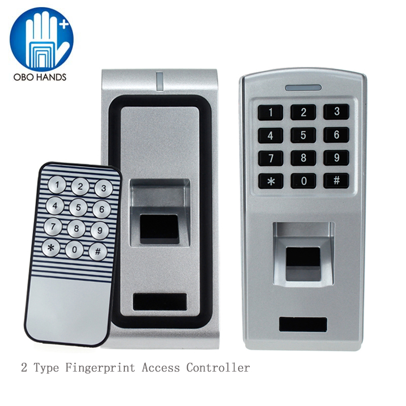 Standalone Biometric Fingerprint Access Controller Support RFID 125KHz Card WG26 Output Reader 500 Users for Electric Door Lock wg input rfid em card reader ip68 waterproof metal standalone door lock access control with keypad support 2000 card users