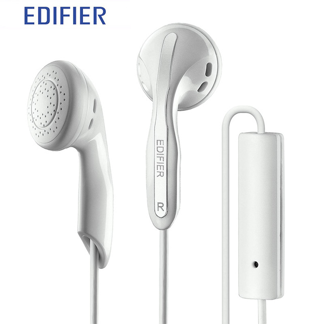 EDIFIER P180 Earphone With MIC Bass Stereo Headset Hands-Free Wired Control Earpiece HiFi Earbuds  For Smartphones