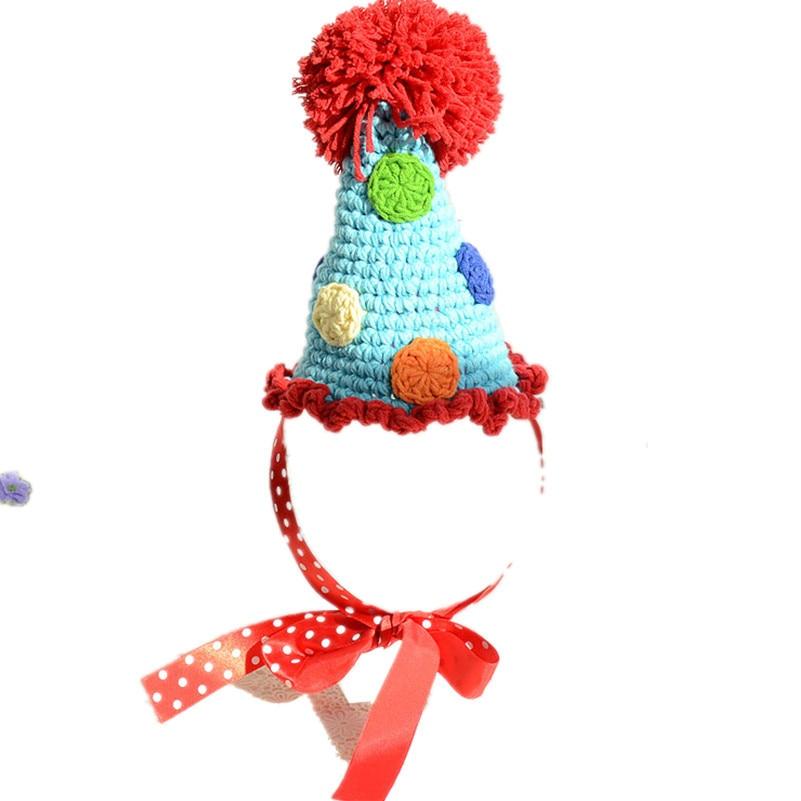 QYFLYXUE- stili i kapelave të dekorimit të bebeve, kapelja e parë, kapelja e bardhë / blu, vajza apo djali