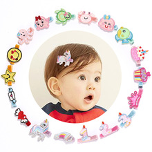 Novelty Girls Cartoon Hairpins Felt Embroidery Love Heart Animals Number Design Cute Kids Headwear Whole Hair Clips