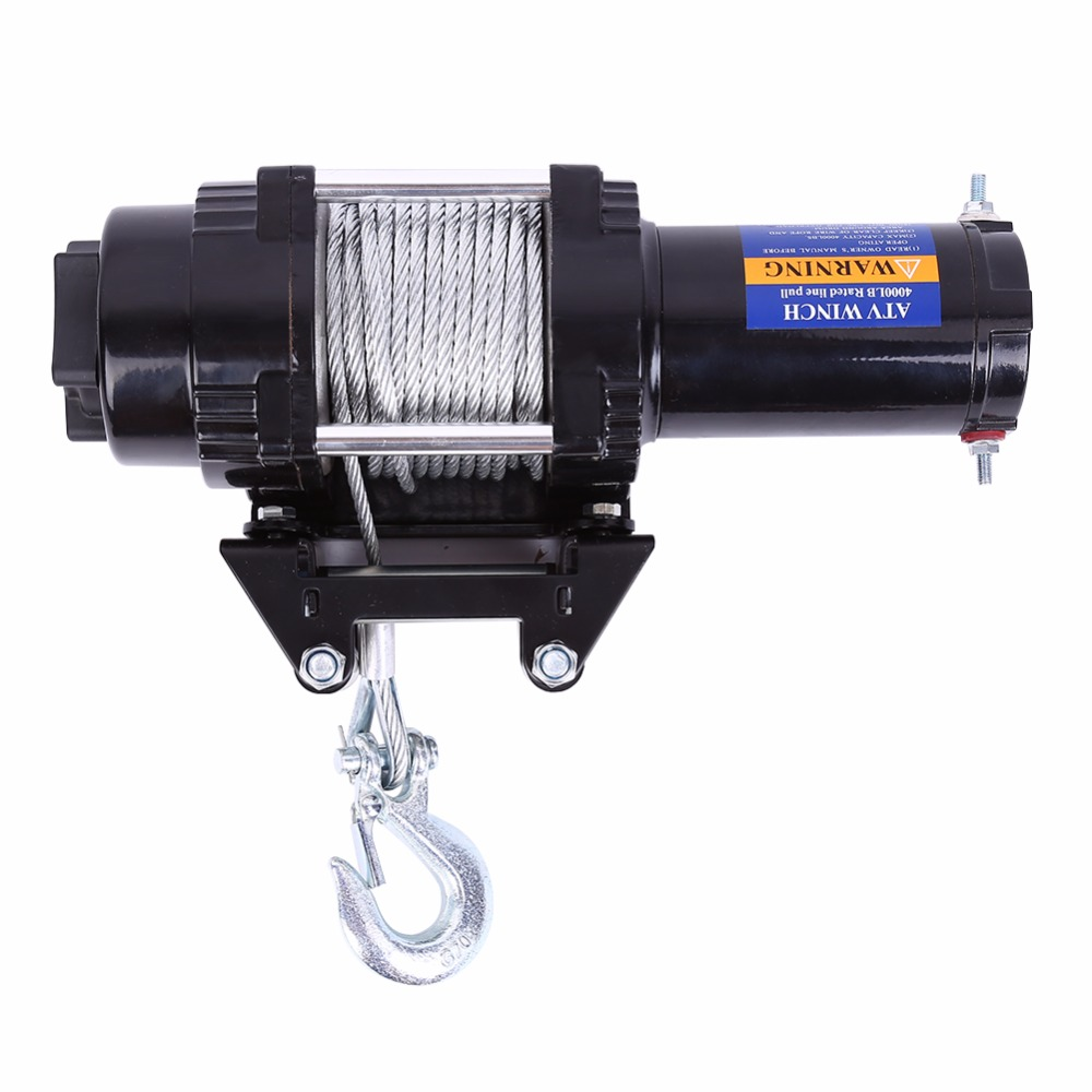 4000lbs Electric Recovery Winch Kit ATV Trailer Truck Car DC 12V Remote Control free shipping yacht winch boat winch barge winch 12v 2000lb electric winch