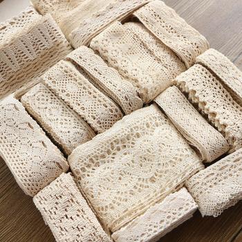 2-6CM 5 jardów beżowa koronka wysokiej jakości koronki bawełniane koronki do szycia wyposażenie domu dodatki do odzieży DIY materiał tanie i dobre opinie Haftowane 100 bawełna 5580 Voile Ekologiczne Rozpuszczalny w wodzie lace Water Soluble Eco-Friendly 100 Cotton 3333 Knitted