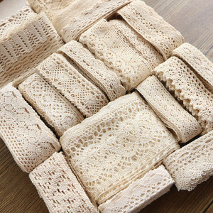 Image 1 - 2 6CM 5 yards Beige lace high qualit  lace cotton lace sewing Home Furnishing garment accessories DIY material