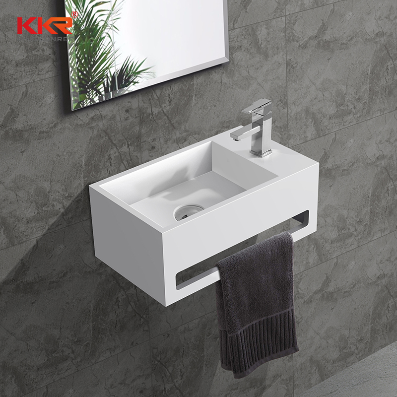 KKR Solid Surface Artificial Stone Matt White Bathroom Wall Hung Sink KKR  1105 A In Bathroom Sinks From Home Improvement On Aliexpress.com | Alibaba  Group