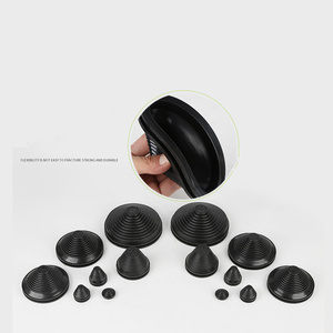 Image 4 - 2pcs גומי חוט חור אבק מכסה תקעים שחור מחודד כבל חותם טבעת grommet אטם outlet מפרצון מקרה תיבת צלחת כבל מגן