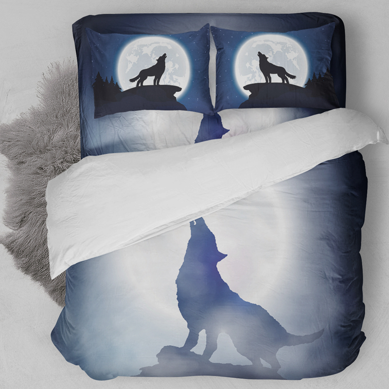 Wolf Animal 3D Printed Bedding Sets Twin Full Queen King Size Quilt Duvet Cover 3pc Children Adults Bed Linens pillowcase