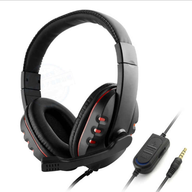 Over-Ear 3.5mm Gaming Headset Headband Game Headphones & Earphones With Microphone For PC Laptop / PS4 brand new big wired ps4 gaming headset earphones with microphone headphone for ps4 games