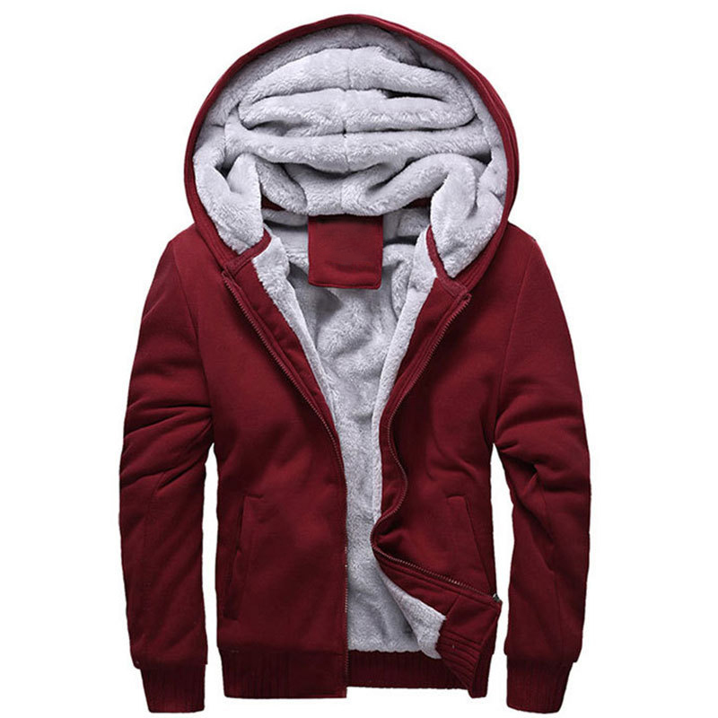 Mens Tracksuit Winter Sweatshirt 2016 New Arrival Mens Sportswear Wear Hoodie Plus Thick Velvet Men Coat Deadpool Hoodie MH037