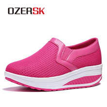 OERSK 2021 New Design Casual Shoes For Woman Slip On Comfortable Mesh Shoes High Quality Socks Sneakers Cushioned Sole
