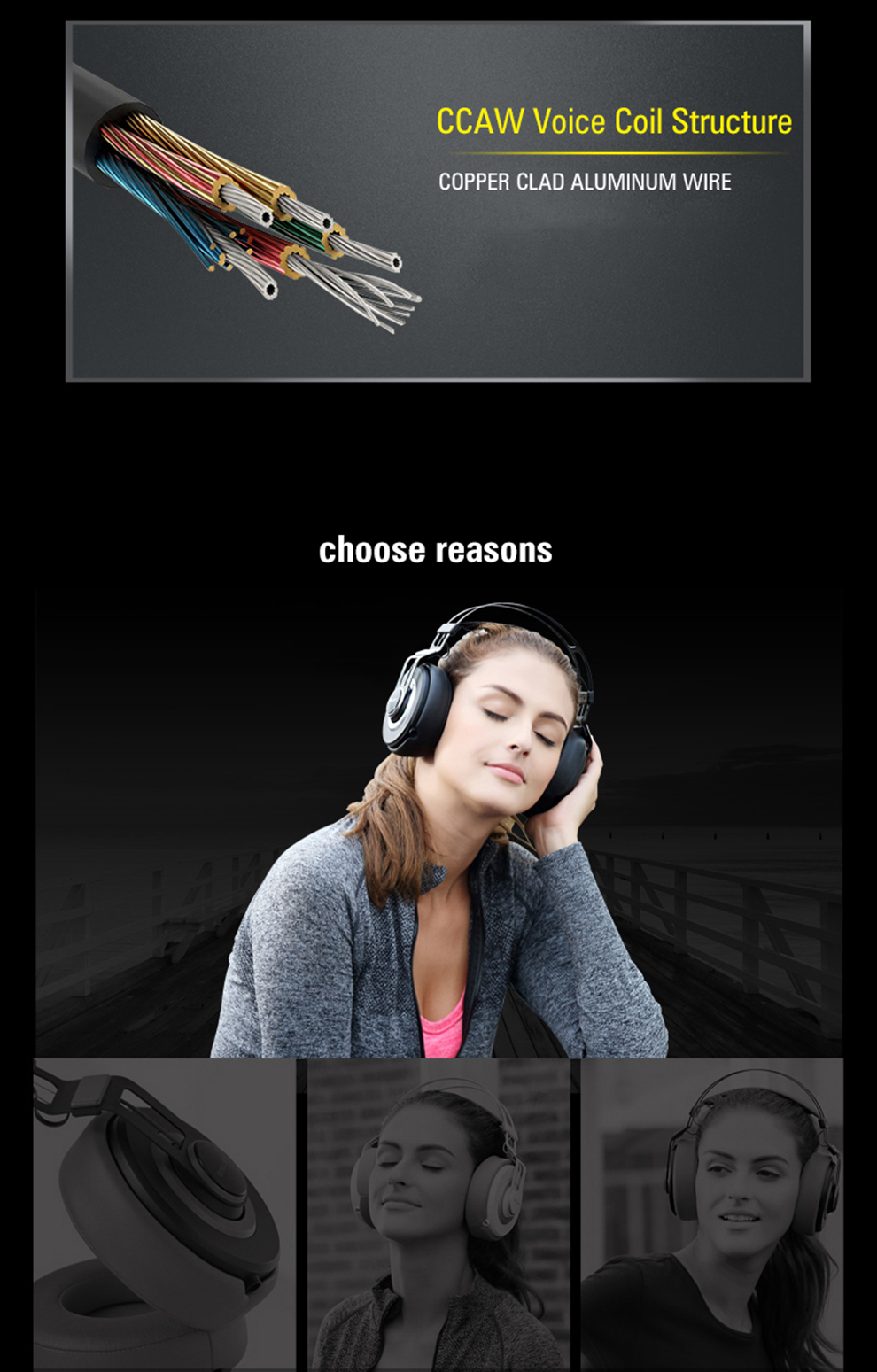 high quality noise cancelling over-head music PC MP3 player mobile phone headphone earphone black orange white -6