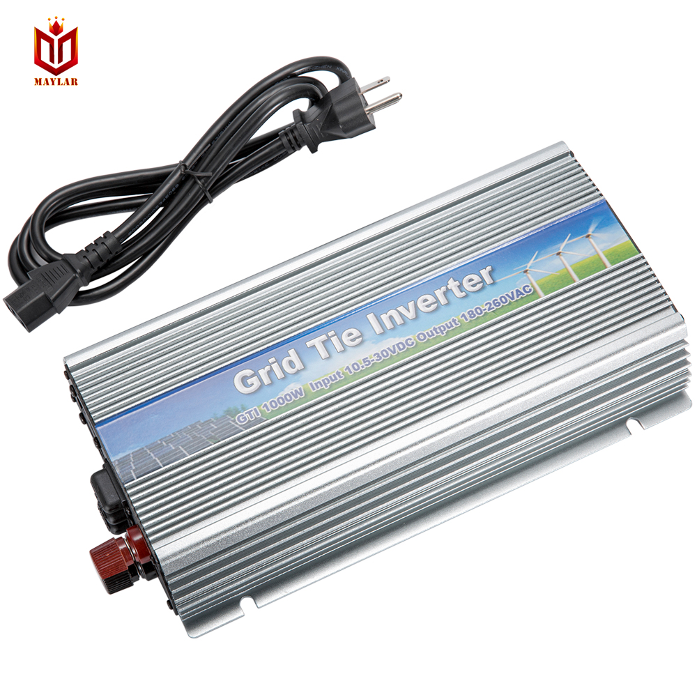 MAYLAR@ 22-50VDC 2PCS 1000W Pure Sine Wave Solar On Grid Inverter,Output 90-140VAC.Grid Tie Inverter For Home Alternative Energy 1000w grid tie inverter mppt function 20 45vdc to ac190 260v or 90 140v pure sine wave output micro on grid tie inverter 1000w