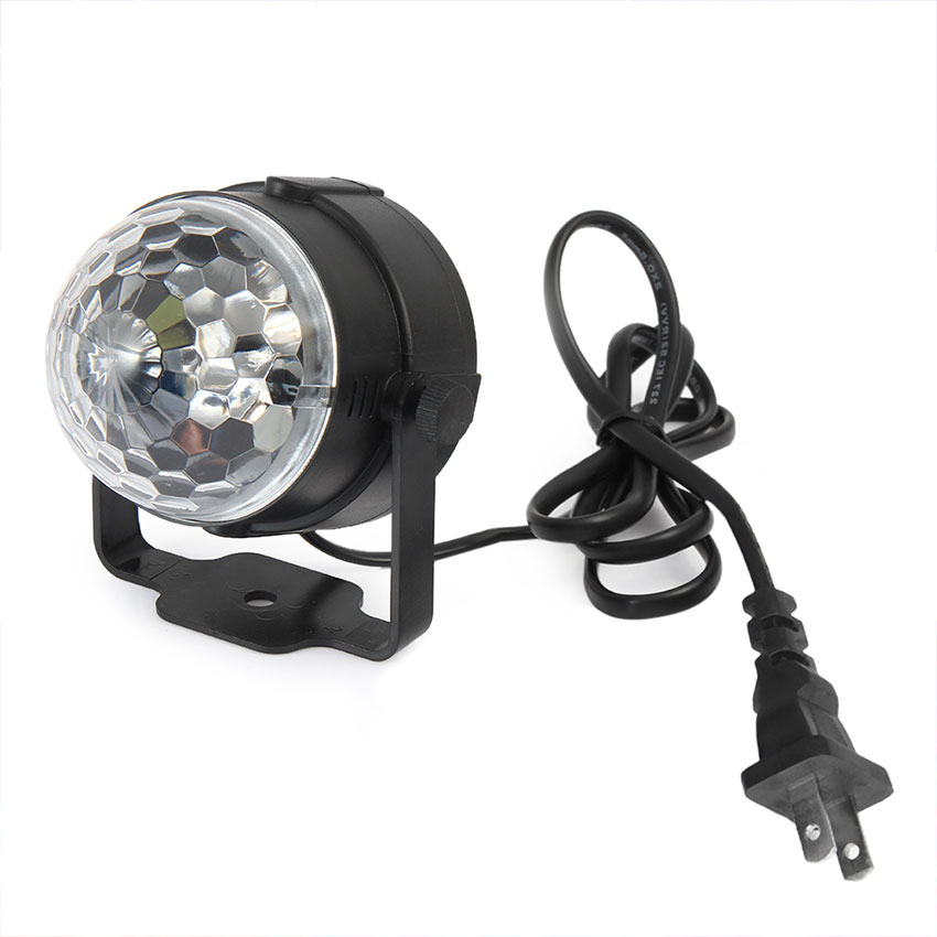 New Design AC 110V 220V Mini Crystal Stage Light Effect RGB Ball Lamp for Party Disco Club DJ Bar Show Indoor Effect Lighting