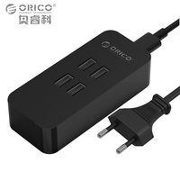 ORICO DCV 4U BK 4 Ports Mini Smart Charger 30W Desktop Charger Black