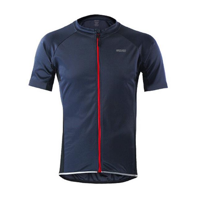Arsuxeo 632 Men Summer Short Sleeve Cycling Jersey MTB Bike Bicycle Shirt Outdoor Sportswear Clothing - Blue Green Gray Orange