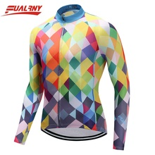 2019 FUALRNY Long sleeve Ropa Ciclismo Cycling Jersey 100% Polyester/Autumn Mountian Bicycle Clothing/MTB Bike Clothes colourful цены