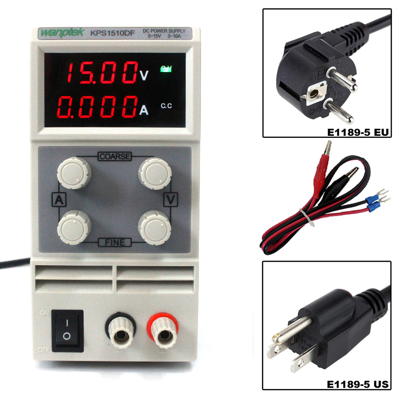 kps1510df 15v 10a digital adjustable dc power supply display mini switching dc power supply for laboratory Wanptek KPS1510DF 0-15V/0-10A 110V-220V 0.01V/0.001A Mini Adjustable Digital switch DC power supply mA display