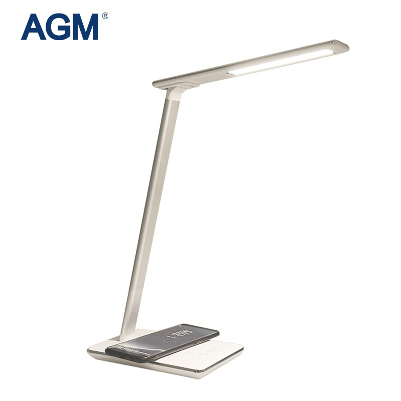 AGM Led Table Lamp Folding Reading Desk Lamps Eye Protection Night Light Luminaria Touch 5V Qi Wireless USB Charger Illuminator wireless charging touch dimming usb desk lamp led night light modern adjustable reading desk lamps for home luminaria de mesa