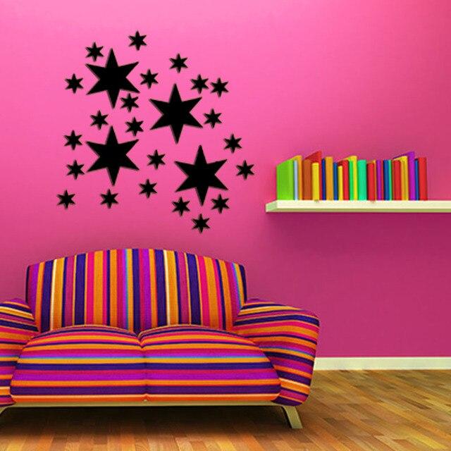 Aliexpress.com : Buy Star Shape 3D Acrylic Mirror Wall Stickers ...