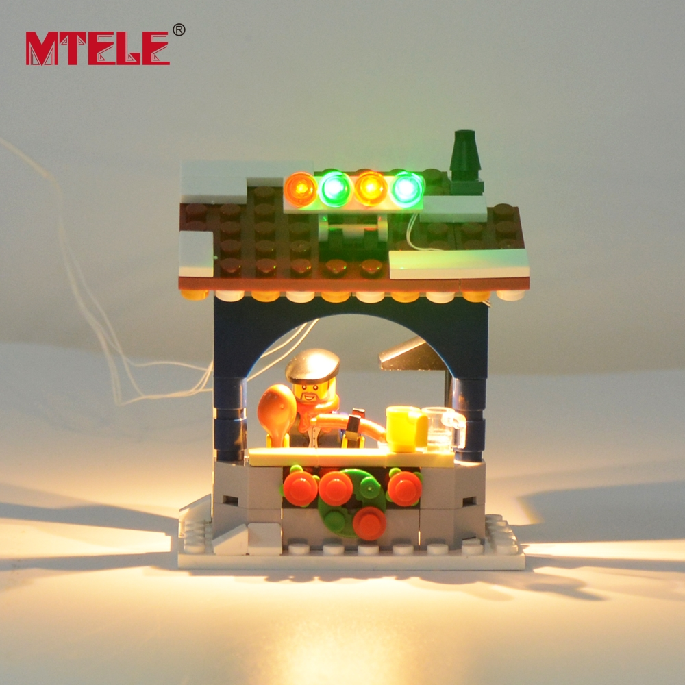 Image 3 - MTELE Led Flash Light Set For Christmas Series Winter Village Market Building Blocks Toy Compatible With Model 10235-in Blocks from Toys & Hobbies