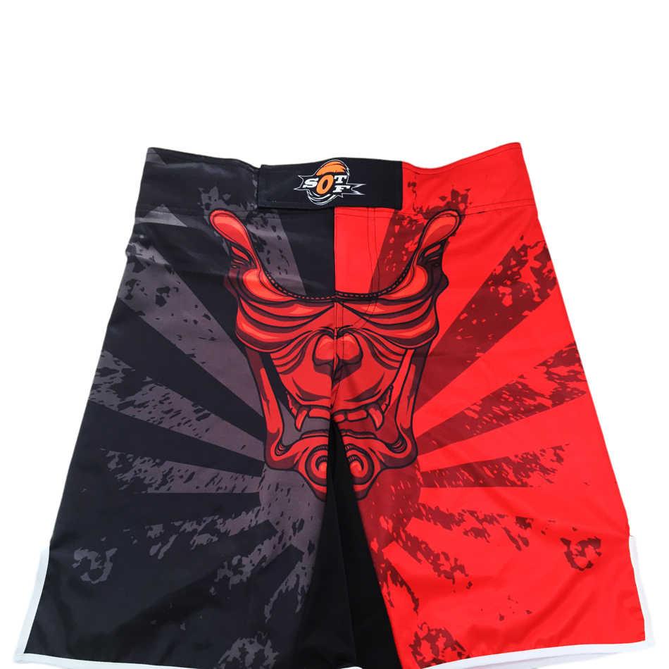 Sotf mma masculino shorts de boxe calças são vermelho preto branco muay thai boxing shorts kickboxing shorts pretorian boxeo muay thai mma