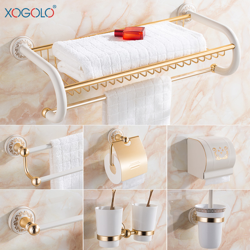 Xogolo space aluminum fashion white wall mounter bath - Bathroom accessories paper towel holder ...