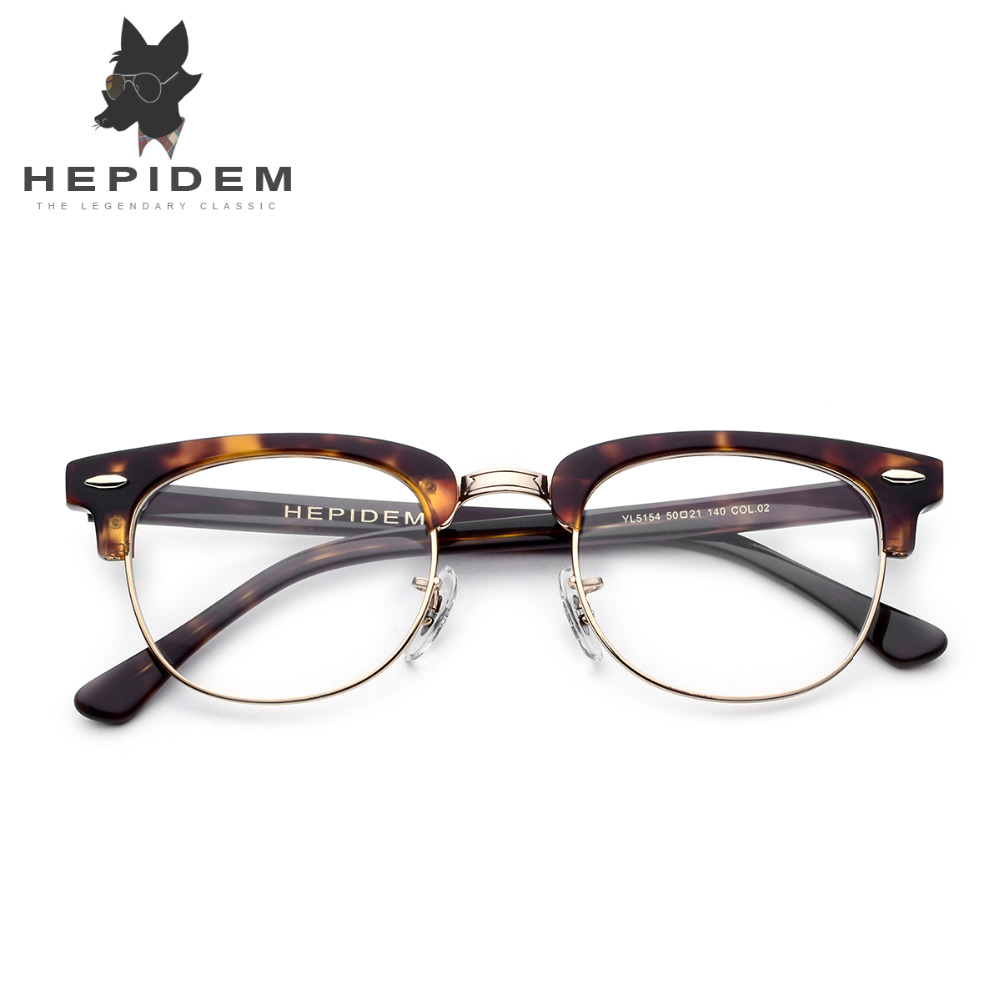57ffa40f09 Acetate Glasses Frame Men Metal Round Eye Prescription Eyeglasses for Women  Metal Myopia Optical Frames Spectacles Eyewear-in Eyewear Frames from  Apparel ...