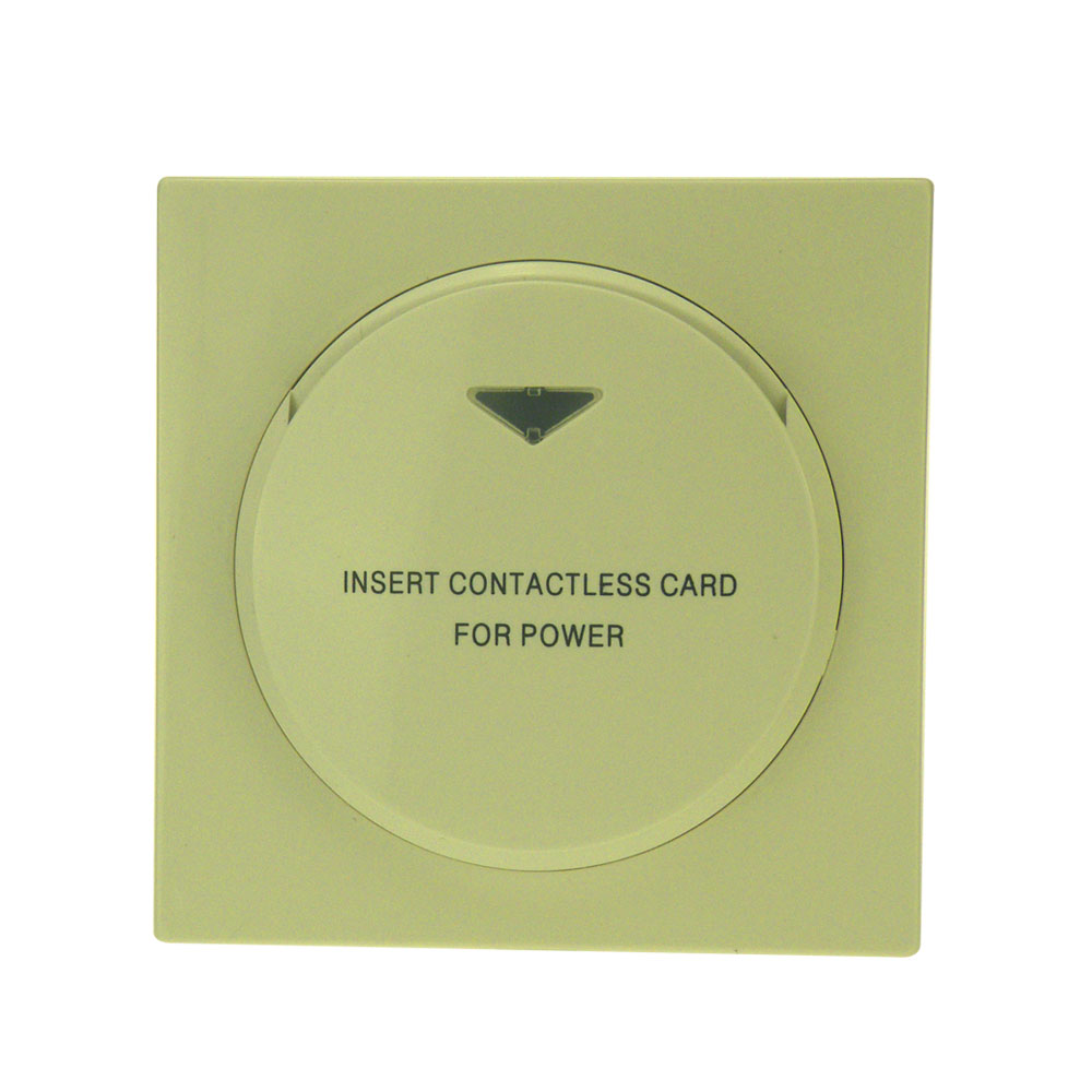 Insert Rfid T5577 T57 125khz Card Switch Insert Keycard To Power Switch Without Return With Silver Frame Can Be Hotel Logo Printed over 100pcs