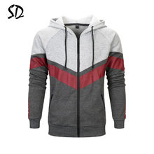 Europe Size Fashion Color Hooides Men's Thick Clothes Striped Sweatshirts Men Hip Hop Streetwear Fleece Hoody Man Clothing S-3XL(China)