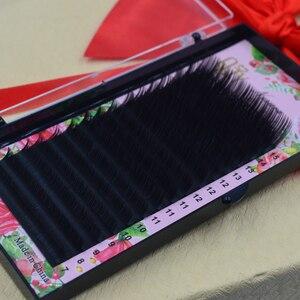 Image 4 - QSTY,16 satır, sahte vizon bireysel kirpik uzatma, cilia lashes uzatma için profesyoneller, yumuşak vizon kirpik uzatma
